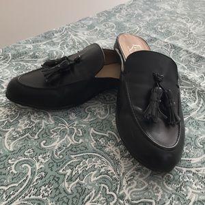 Franco Sarto Black Faux Leather Loafers